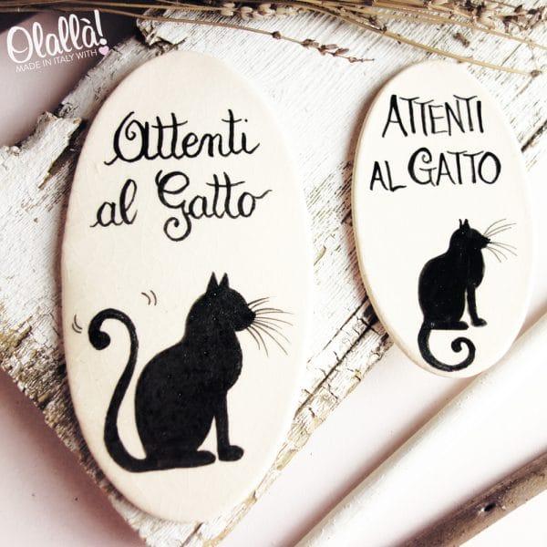 targhetta-ceramica-attenti-gatto-ovale-personalizzata