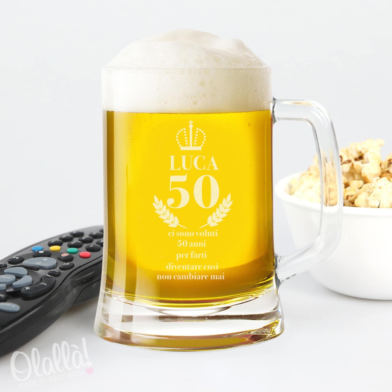 Boccale Da Birra Con Manico Personalizzato Idea Regalo 50 Anni Olalla
