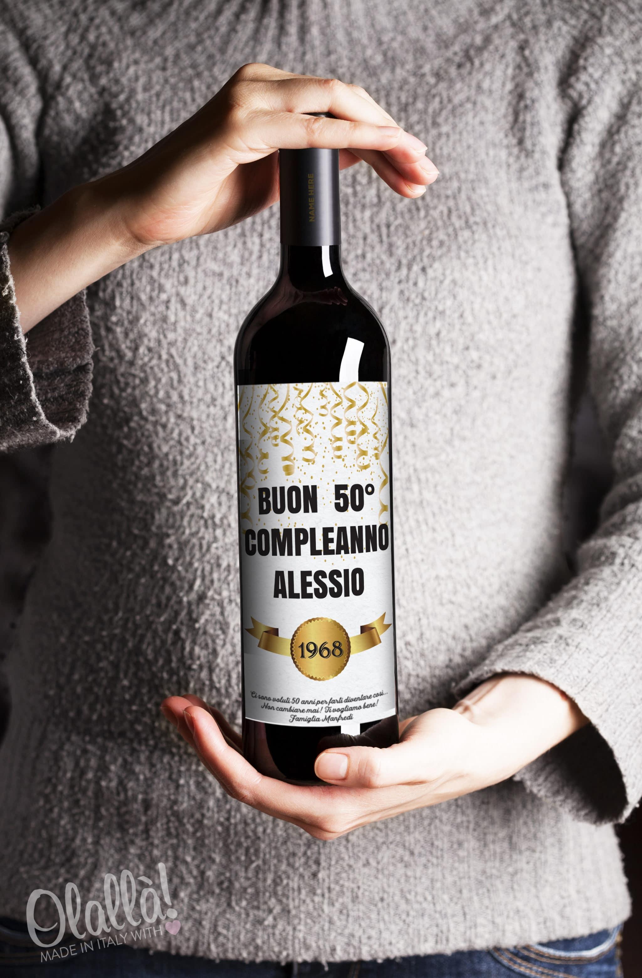 Auguri Matrimonio Vino : Bottiglia di vino personalizzata quot buon compleanno idea