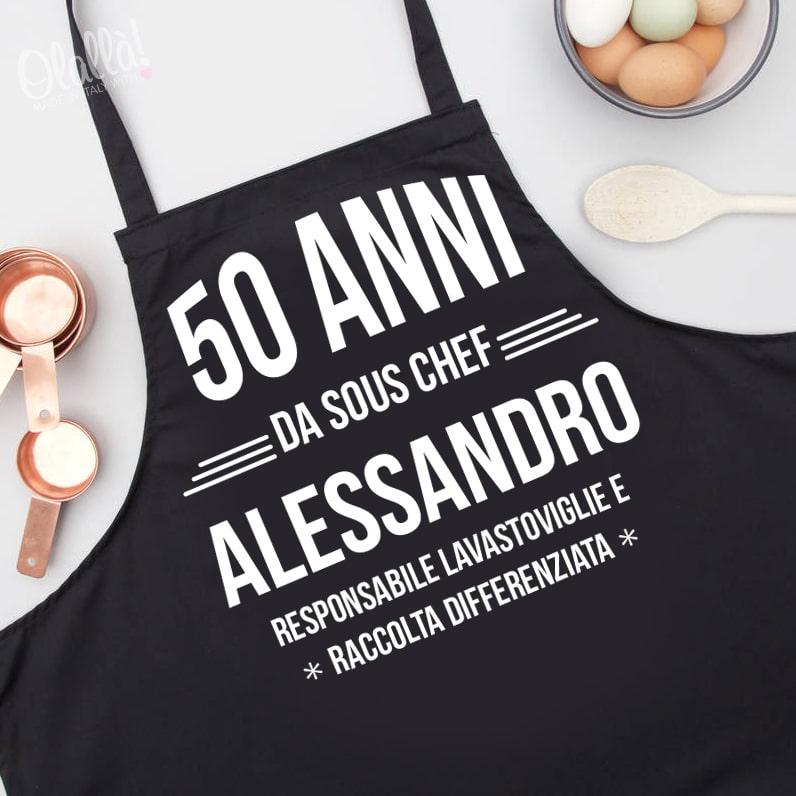 Grembiule da Cucina Stampato Personalizzato - Idea Regalo 50 Anni ... 279ef1260461