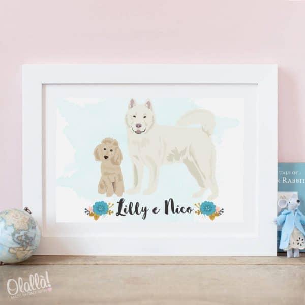 ritratto-personalizzato-cani-con-nomi-digitale