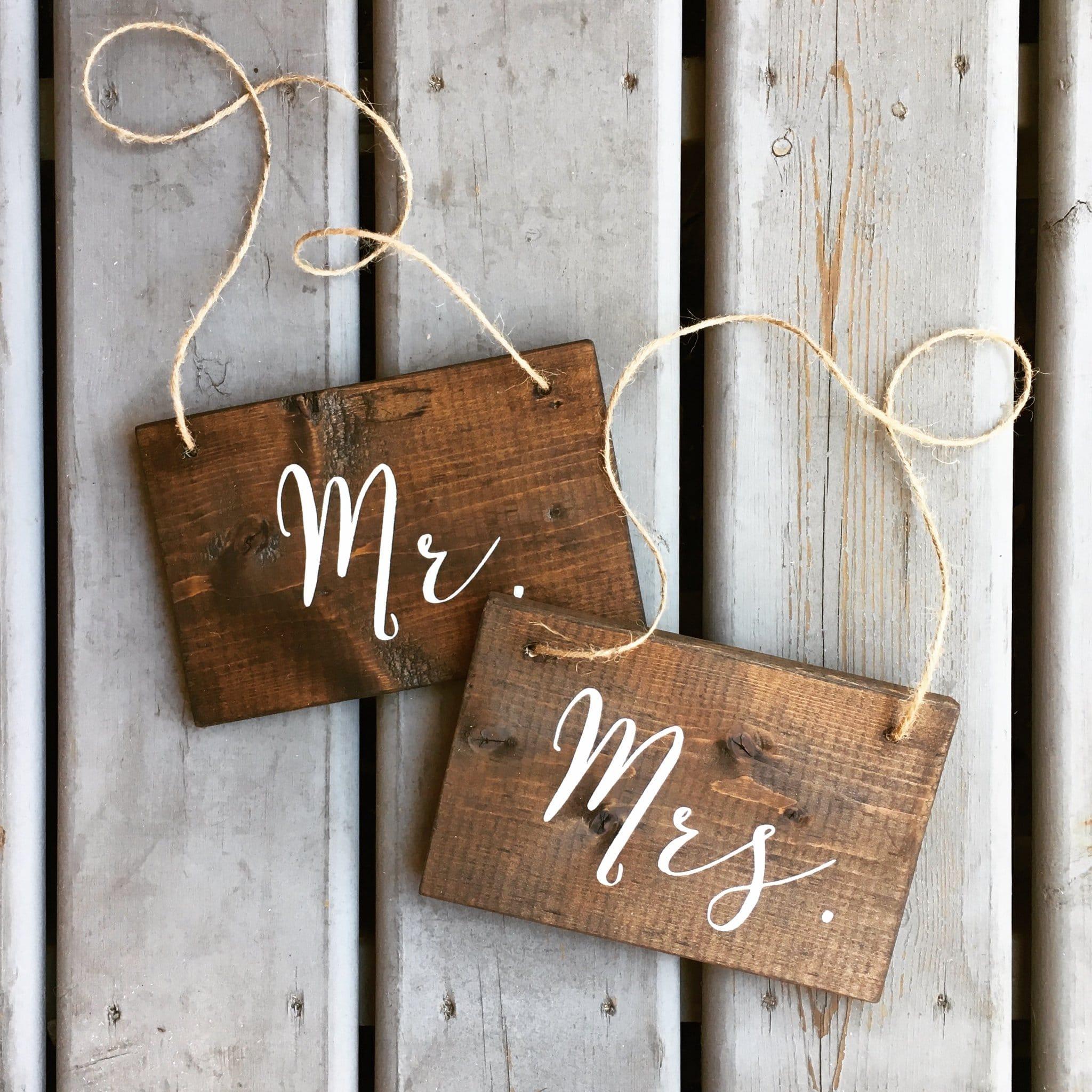 Targhette Personalizzate Mr Mrs Decorazione Matrimonio