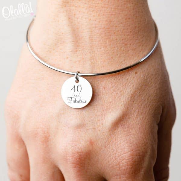 bracciale-argento-medaglietta-40-anni-compleanno