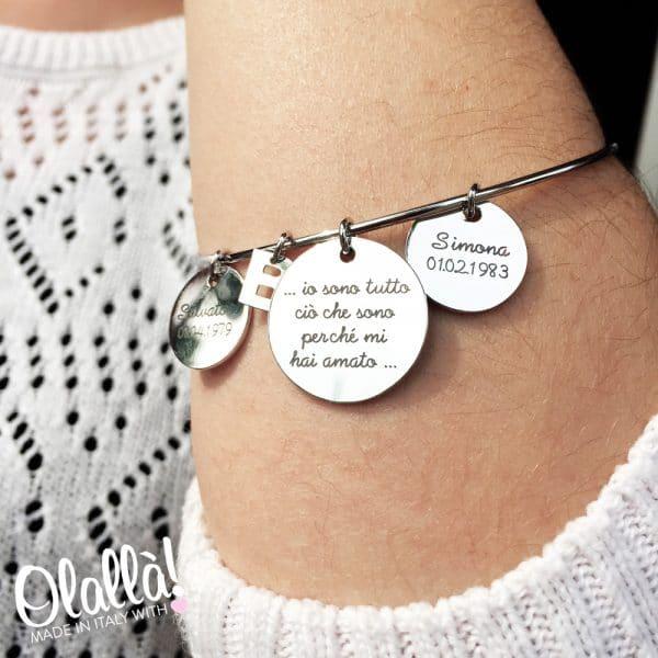 bracciale-argento-medagliette-personalizzate-festa-mamma