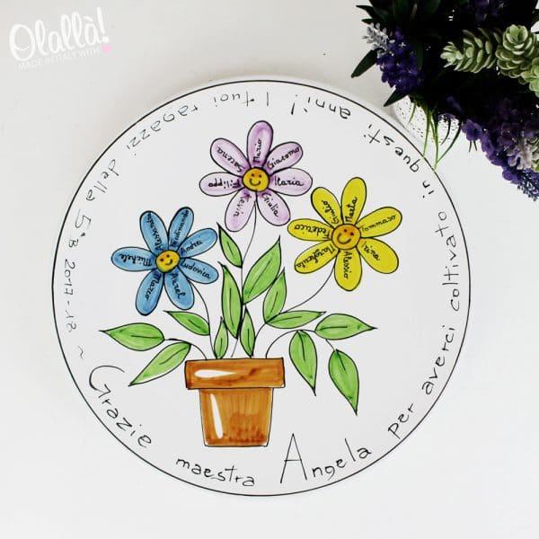 piatto-ceramica-maestre-fiori-personalizzato-regalo-fineanno