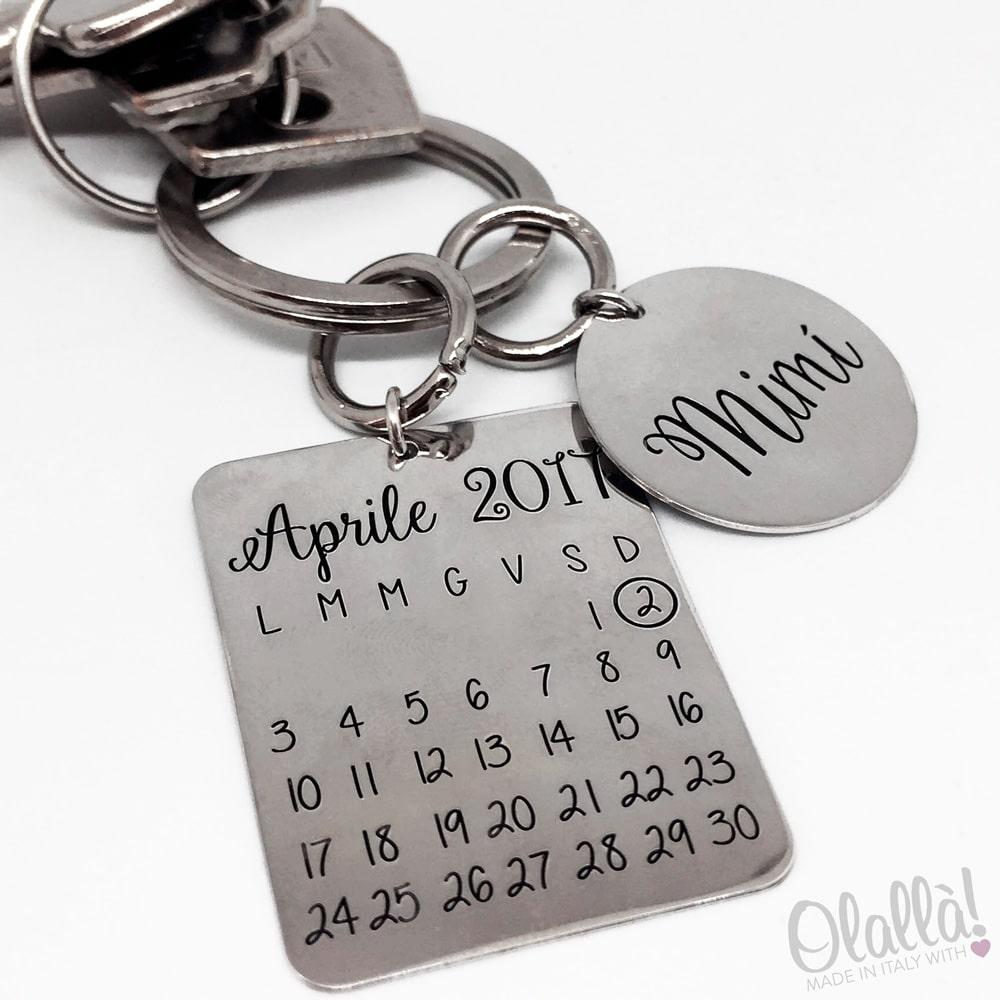 portachiavi-argento-calendario-nome-personalizzato