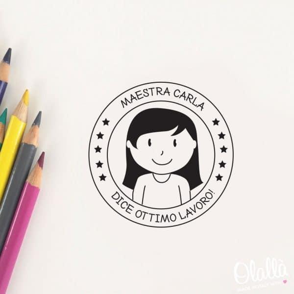 timbro-personalizzato-maestra-caricatura