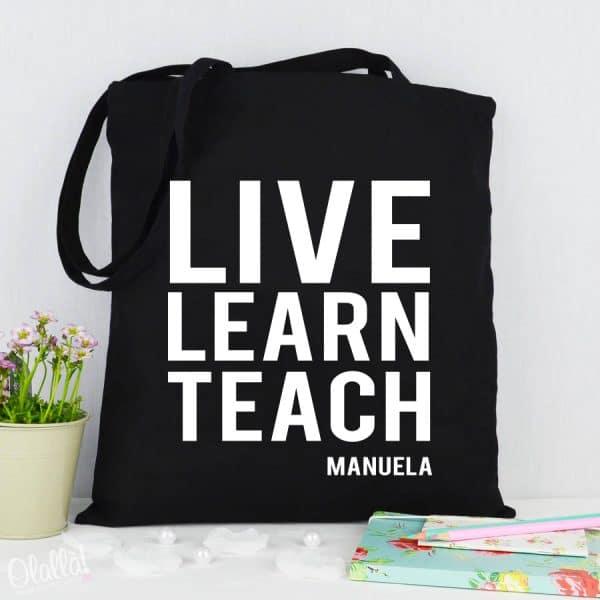 borsa-shopper-nera-personalizzata-maestre-live-learn