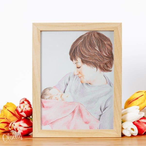 ritratto-mamma-figlio-personalizzato