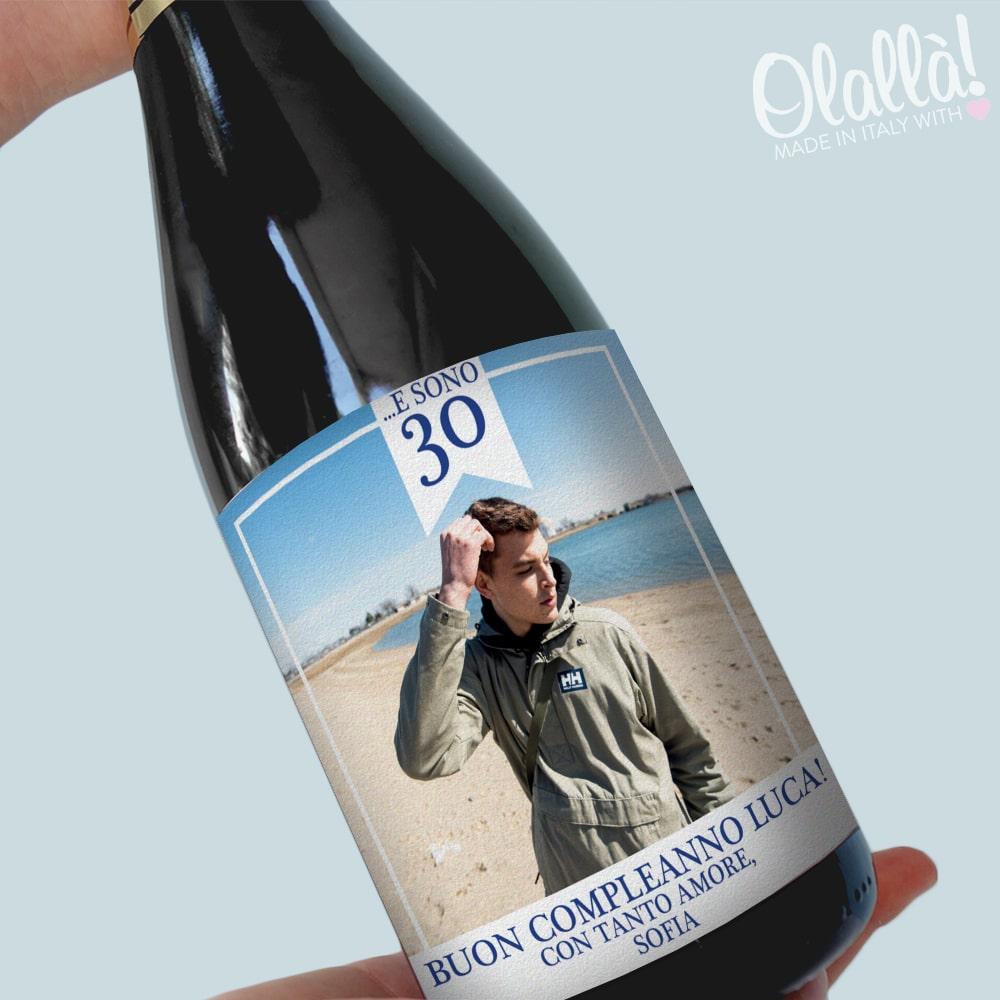 Bottiglia Personalizzata Con Foto Idea Regalo Per 30 Compleanno