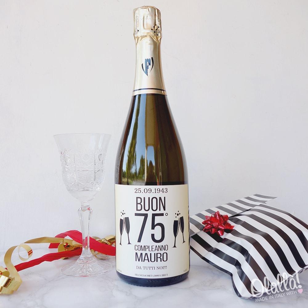 Bottiglia Di Spumante Personalizzata Con Dedica Idea Regalo Per 75