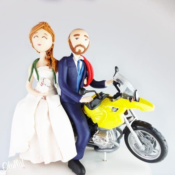 cake-topper-sposini-fimo-moto