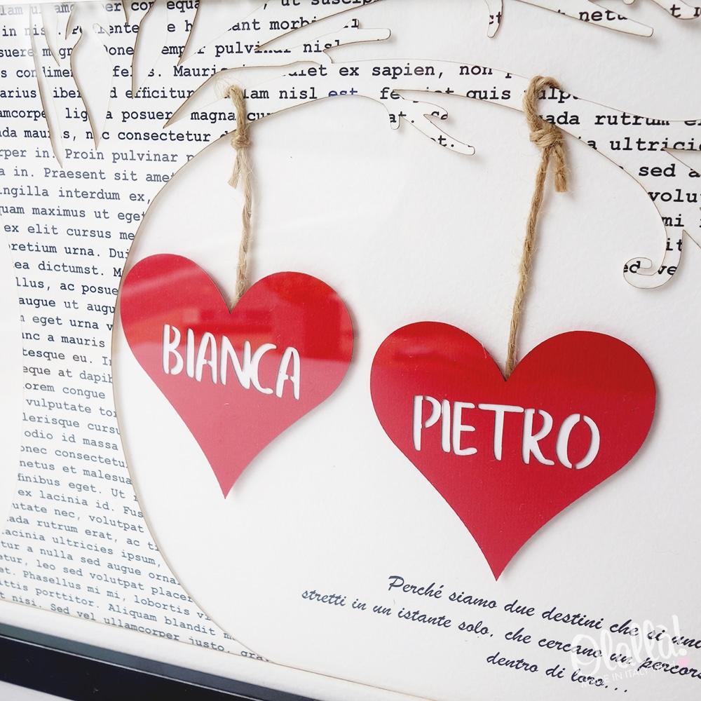 quadro-cuori-carta-personalizzato-coppia-regalo