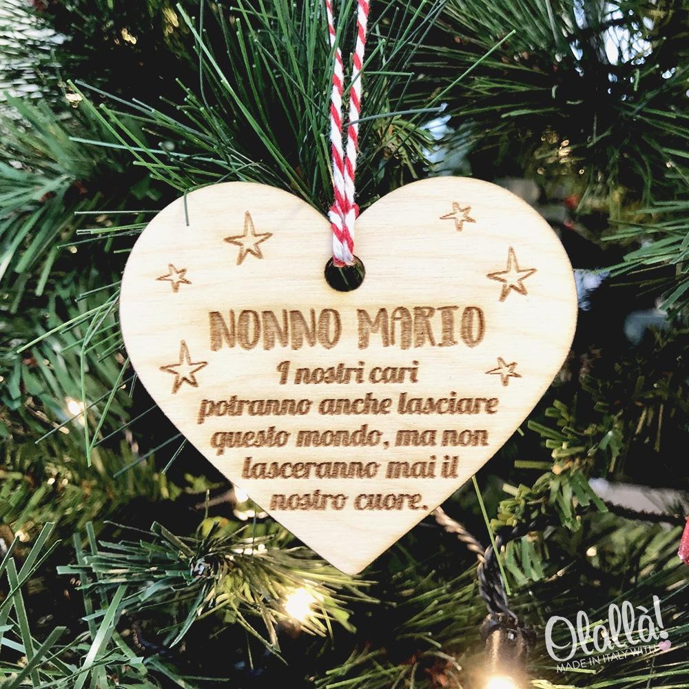 Frasi Di Natale Uniche.Addobbo Natalizio Cuore Con Frase Personalizzata Decorazione Da