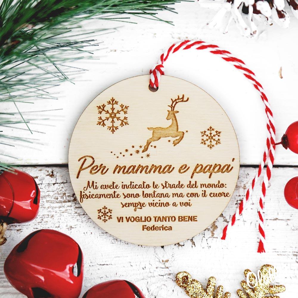 Albero Di Natale Regali.Decorazione Personalizzata In Legno Da Appendere All Albero Di Natale Idea Regalo Per La Famiglia Olalla