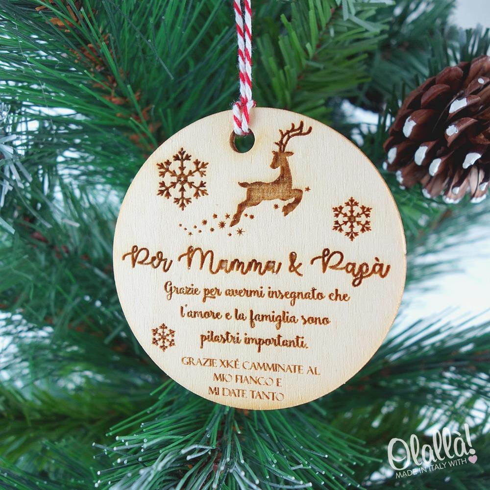 Idee Regalo Natale Per La Famiglia.Decorazione Personalizzata In Legno Da Appendere All Albero Di Natale Idea Regalo Per La Famiglia Olalla