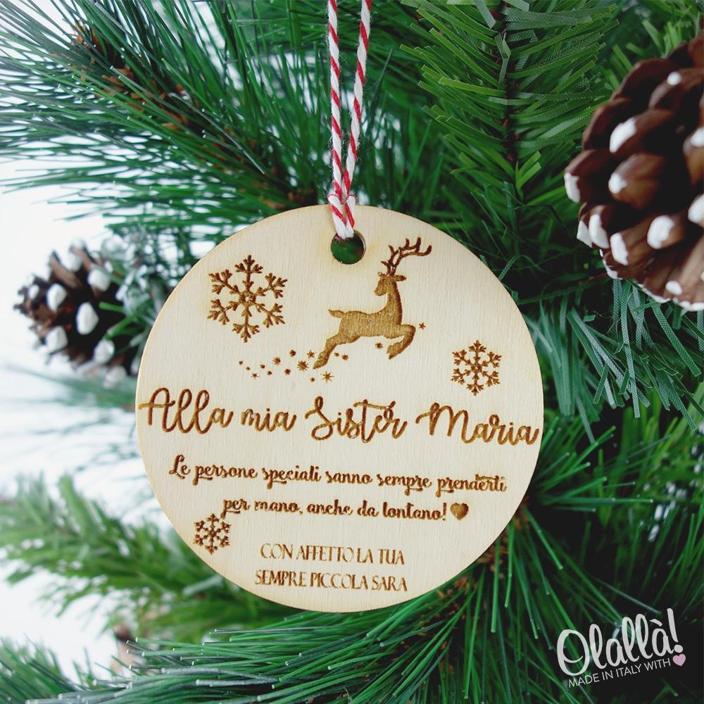 Decorazione Personalizzata in Legno per Albero di Natale - Idea