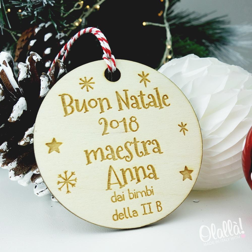 Regali Di Natale Per Maestre.Addobbo Per L Albero Con Frase Personalizzata Regalo Maestra Olalla