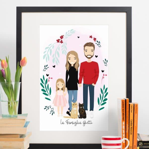 ritratto-famiglia-personalizzato-regalo