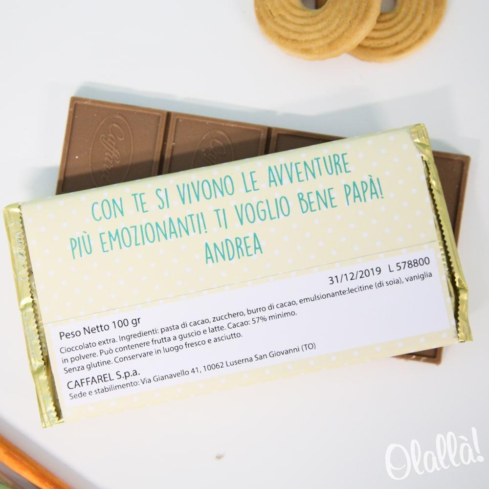 dd79dad4c8 Barretta di Cioccolata Personalizzata