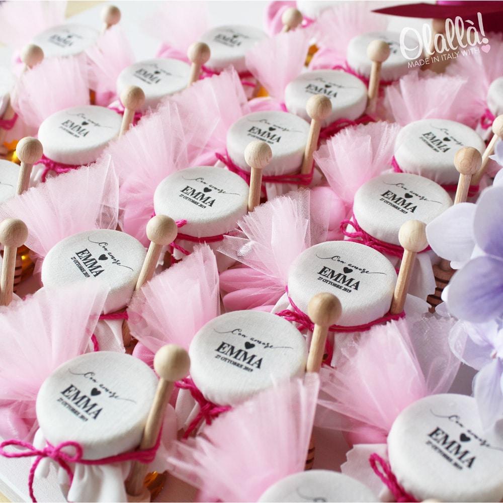 miele-personalizzato-battesimo-bambina-tulle-rosa