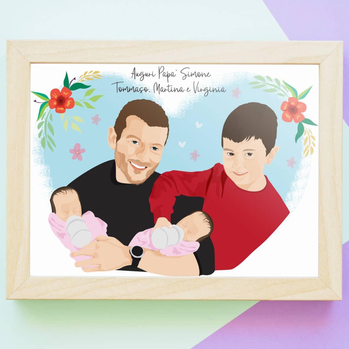 ritratto-personalizzato-festa-papa