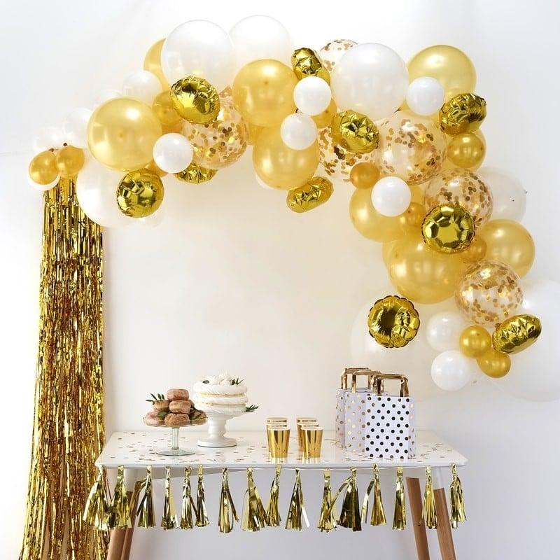Ghirlanda Di Palloncini Oro E Bianco Per Festa 50 Compleanno O 50esimo Anniversario Olalla