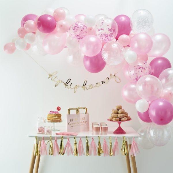 arco-palloncini-rosa-compleannobambina2