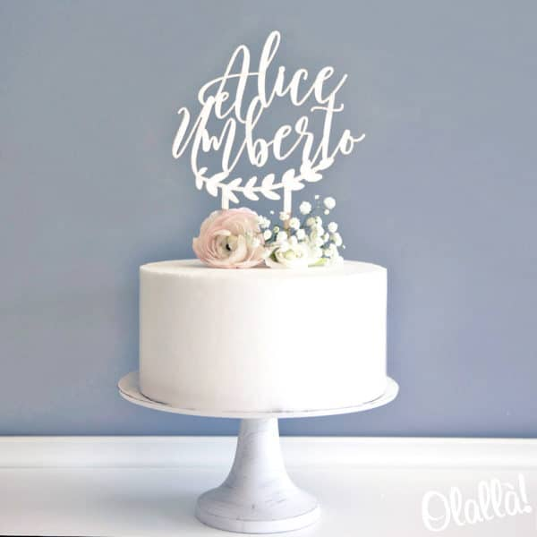 cake-topper-nomi-corolla-ghirlanda