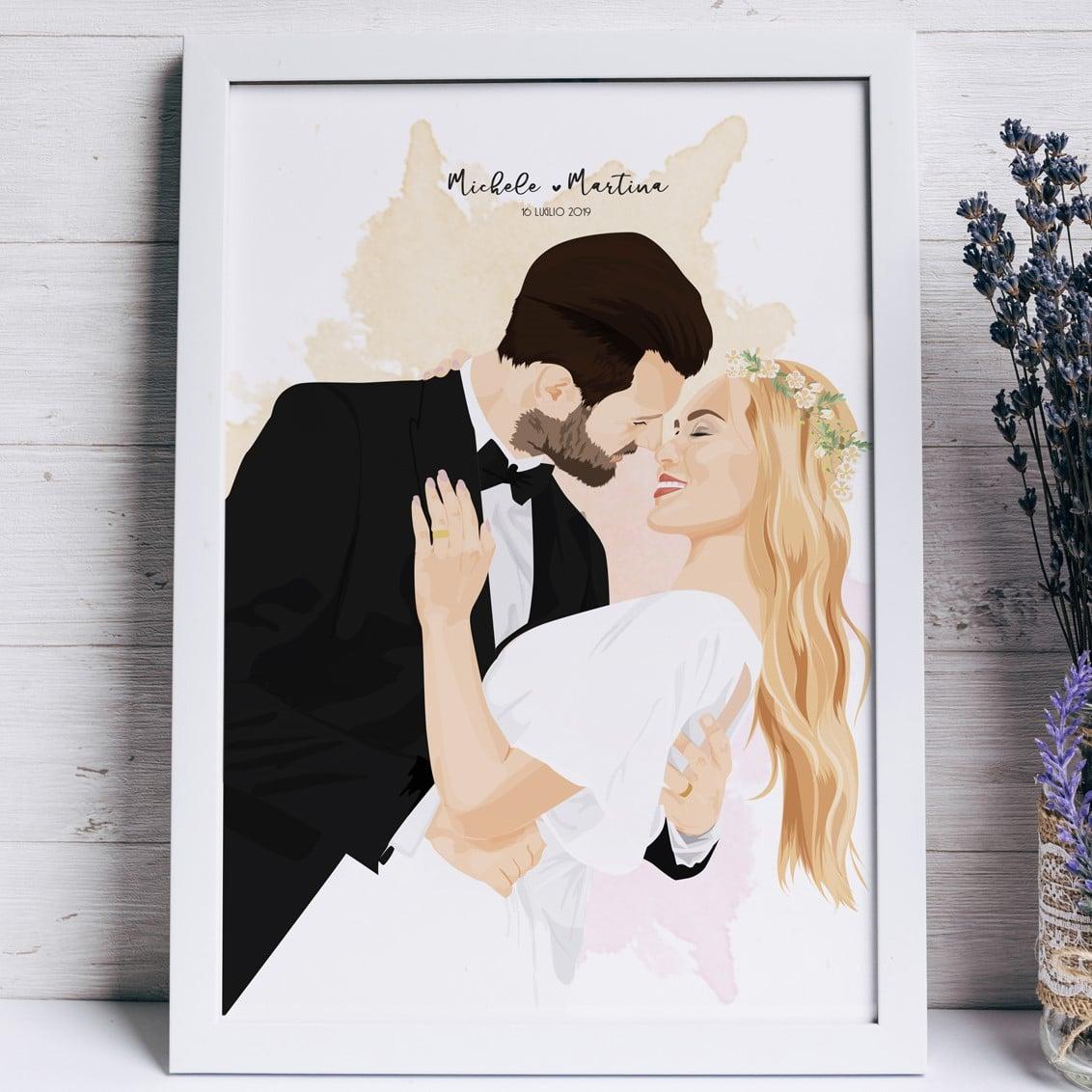 ritratto-personalizzato-matrimonio-regalo-originale-2