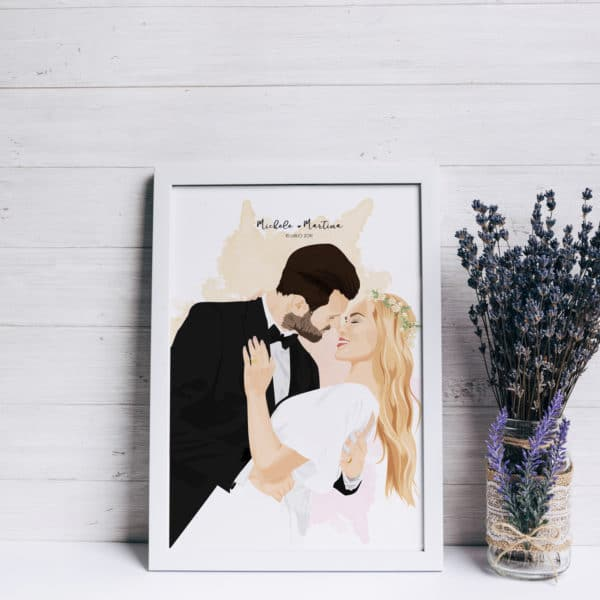 ritratto-personalizzato-matrimonio-regalo-originale