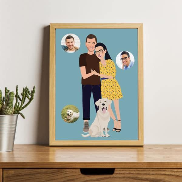 illustrazione-personalizzata-foto-regalo-anniversario