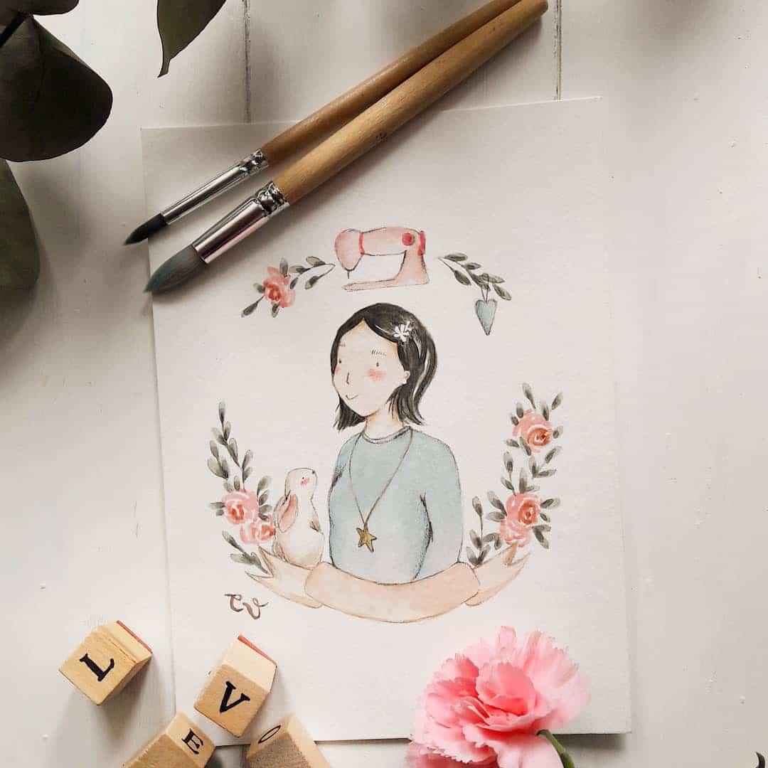 illustrazione-ritratto-regalo-amica-personalizzato