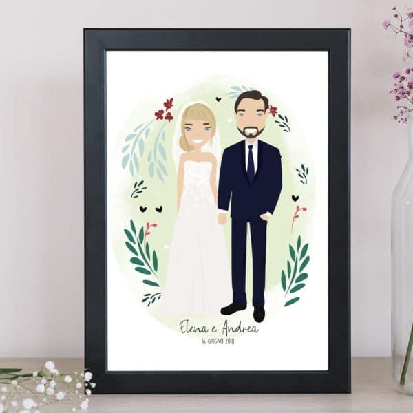 illustrazione-sposi-personalizzata-regalo-matrimonio-2