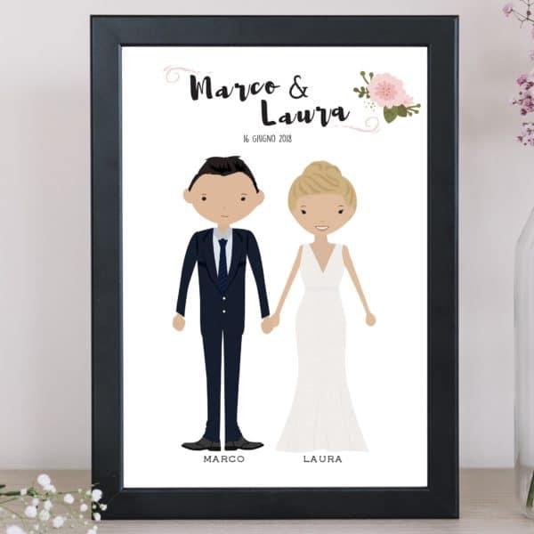 illustrazione-sposi-personalizzata-regalo-matrimonio