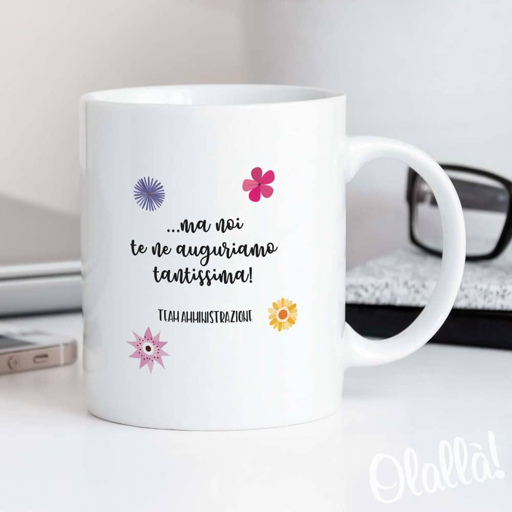 Tazza Personalizzata Fai Da Te tazza personalizzata con dedica e fiori colorati - regalo per collega |  olalla
