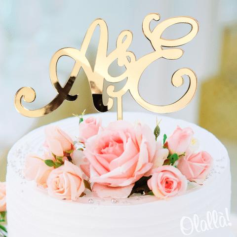 cake-topper-oro-iniziali-romantiche
