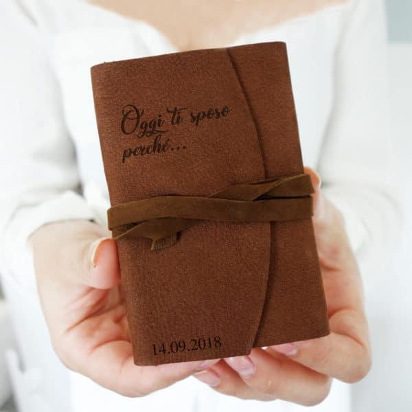 libretto-promesse-personalizzato-pelle-matrimonio