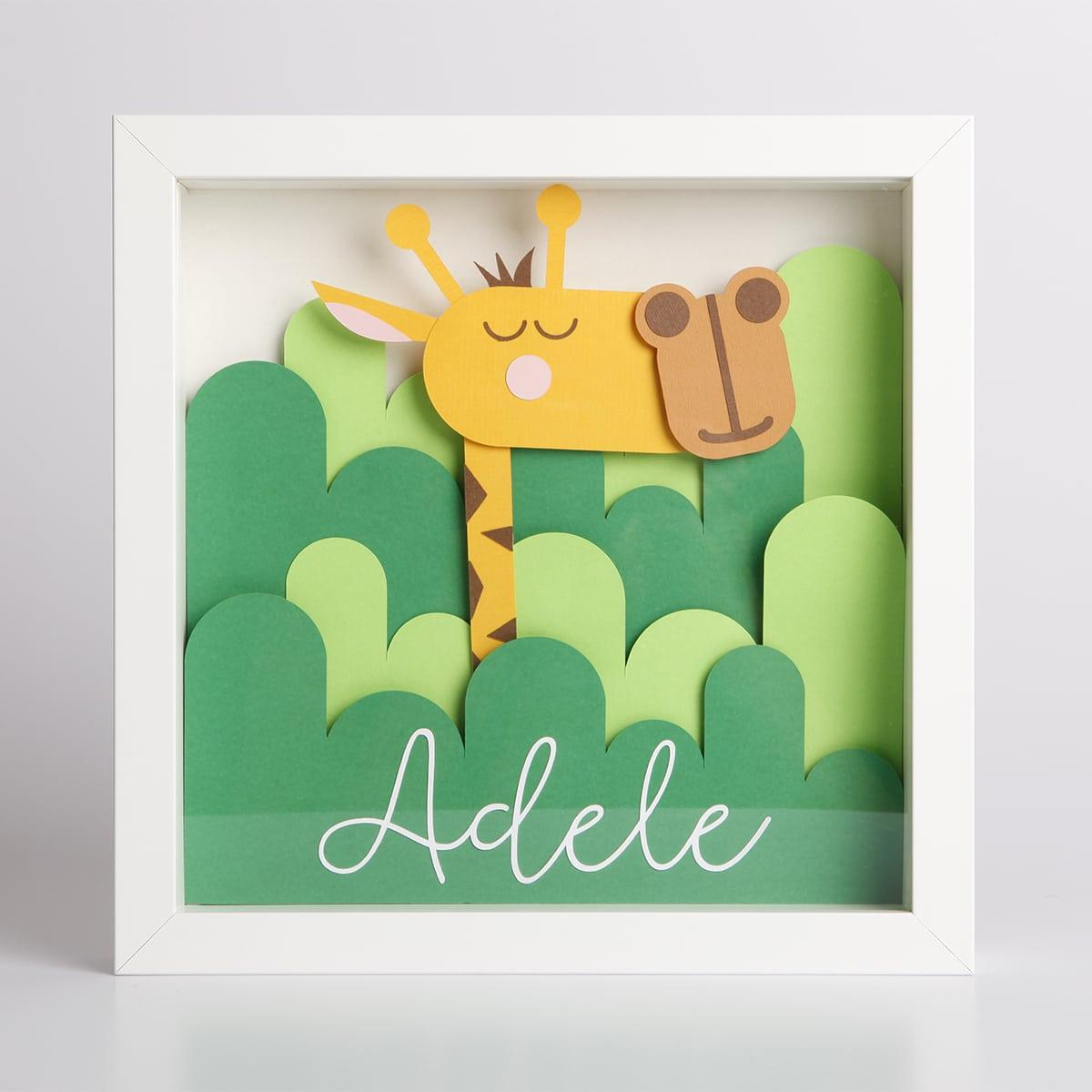 quadretto-personalizzato-nome-giraffa-regalo