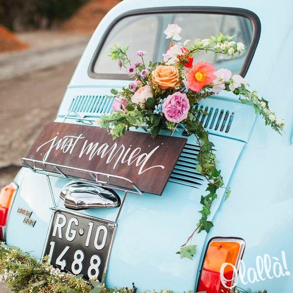 targa-matrimonio-auto-just-married-3