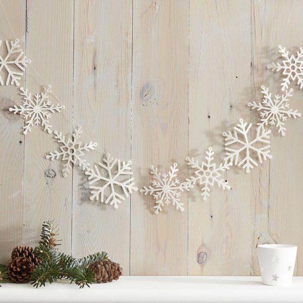 Decorazione-Natale-Fiocchi-Di-Neve-Glitter