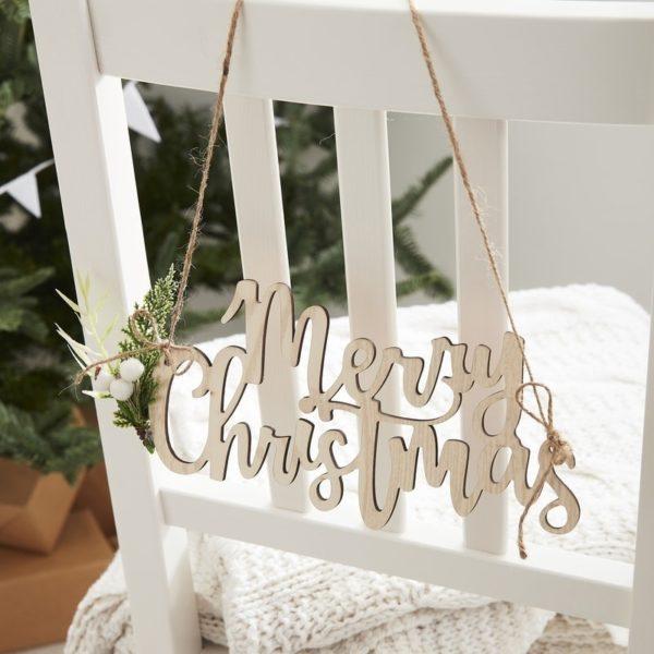 Decorazione-Sedia-Natale-Legno