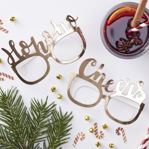 Occhiali-Gadget-Natale-Oro