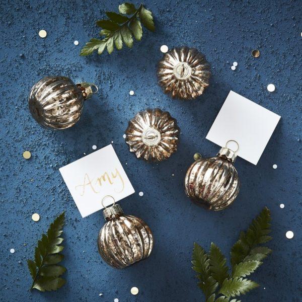Segnaposto-Decorazione-Natale-Portanome-Oro