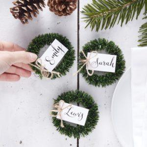 Segnaposto-Natale-Ghirlanda-Portanome