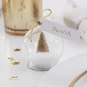 Segnaposto-Natale-Palla-Di-Neve