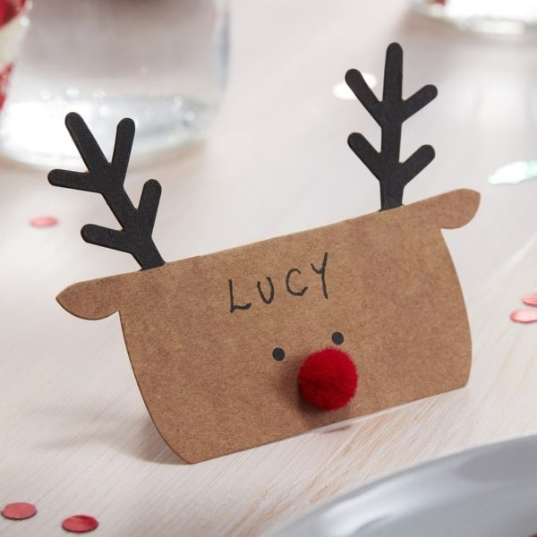 Segnaposto-Natale-Renna-Carta-Kraft