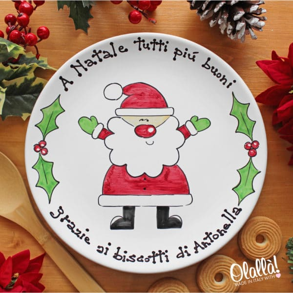 piatti-natalizi-ceramica-personalizzata-dipinta-babbo-natale