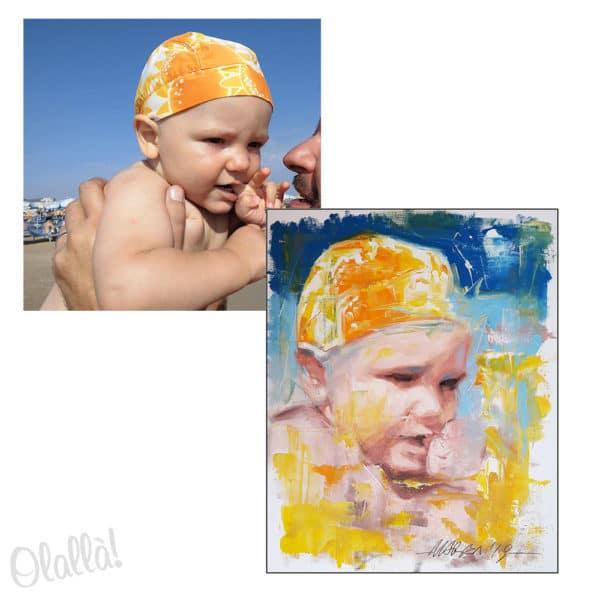 quadro-bambino-dipinto-regalo-foto