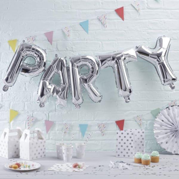 Festone-Lettere-Gonfiabili-Party-Scritta-Argento
